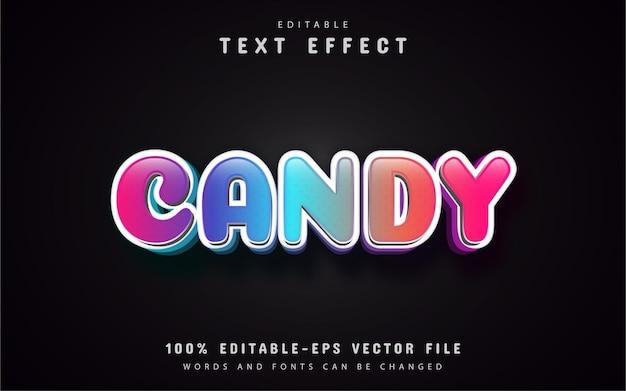 Effetto testo candy