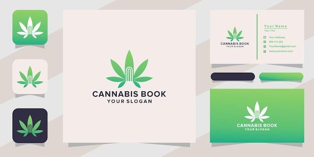 Logo del libro di cannabis e biglietto da visita