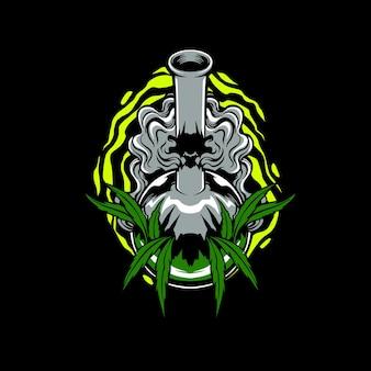 Illustrazione della bottiglia di cannabis