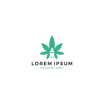 Logo del gelato della cannabis