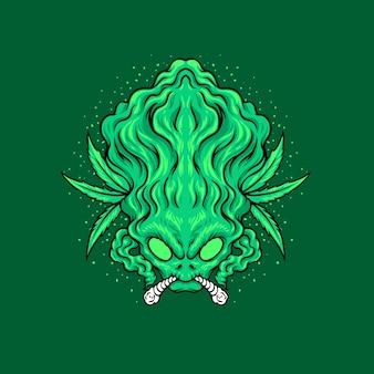 Illustrazione di cannabis