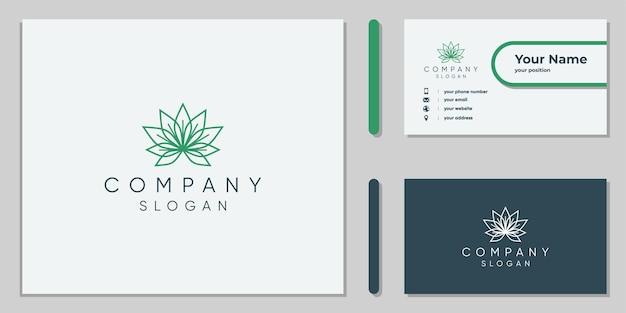 Design del logo della foglia di cannabis per aziende e mediche