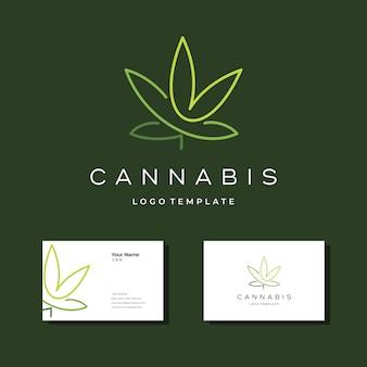 Modello di progettazione di logo di cannabis