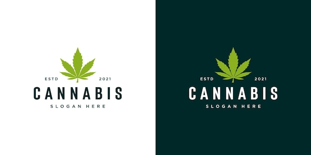 Logo della foglia di marijuana di cannabis