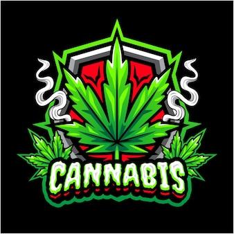 Logo della mascotte di cannabis