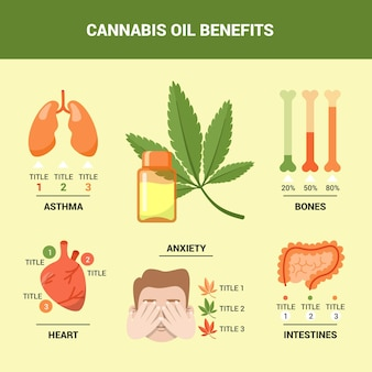 Benefici dell'olio di cannabis - infografica