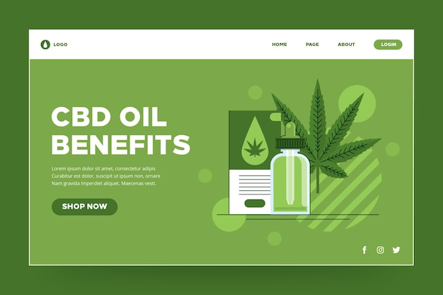 Pagina di destinazione dell'olio di cannabis