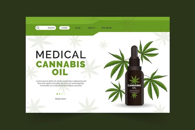 Olio di cannabis - pagina di destinazione