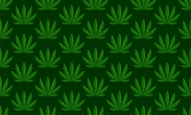 Sfondo verde pianta di cannabis. illustrazione vettoriale