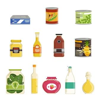 Set di prodotti in scatola