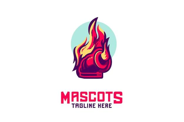 Logo della mascotte del cannone