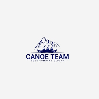 Modello di logo di canoa