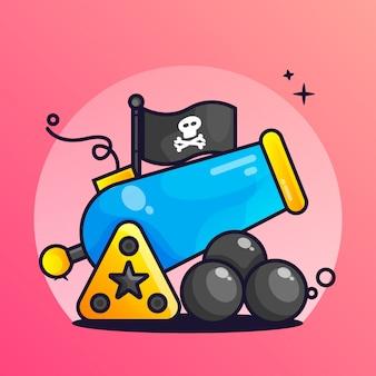 Illustrazione di gradiente pirata canon