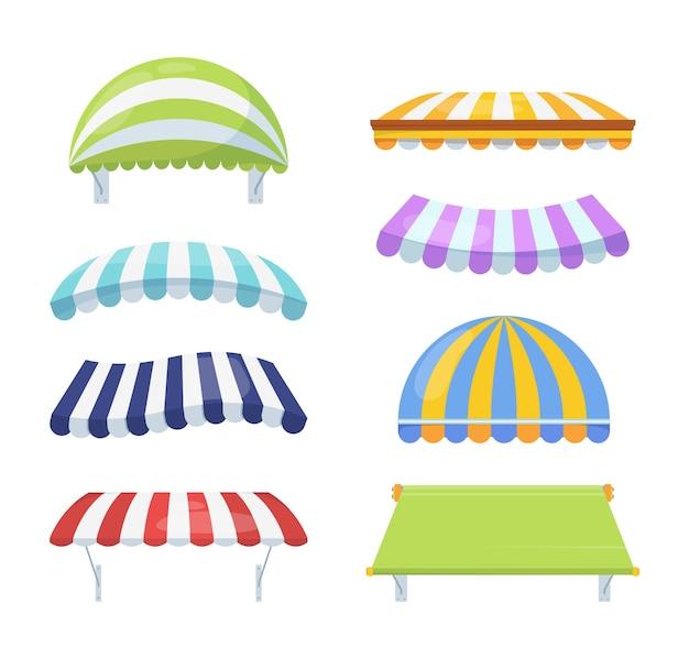 Set a strisce di colore del baldacchino