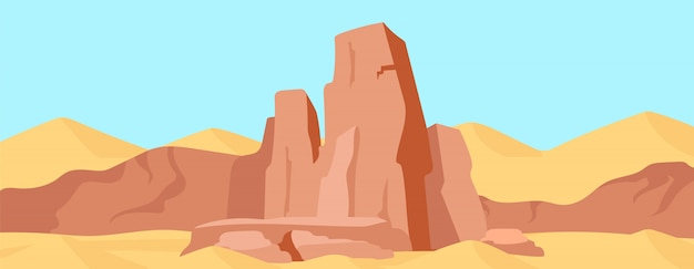 Illustrazione di colore piatto canyon