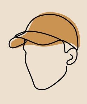 Cap wear oneline arte a linea continua