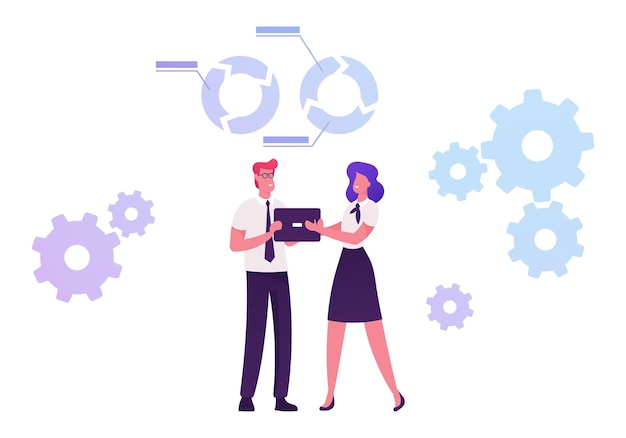 Processo di sviluppo delle capacità mediante il quale individui e organizzazioni ottengono, migliorano e mantengono le competenze. cartoon illustrazione piatta