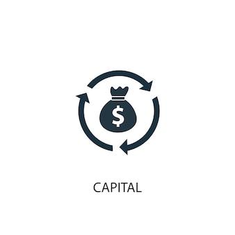 Icona di capitale. illustrazione semplice dell'elemento. disegno di simbolo del concetto di capitale. può essere utilizzato per web e mobile.