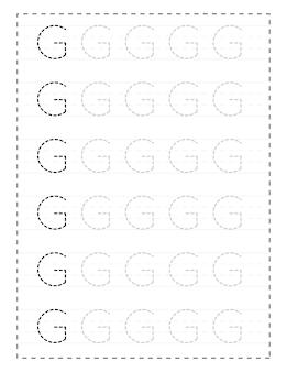 Fogli di lavoro per tracciare l'alfabeto con lettere maiuscole per bambini in età prescolare e bambini piccoli