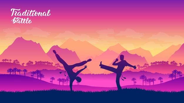 Capoeira guerrieri arti marziali di diverse nazioni del mondo