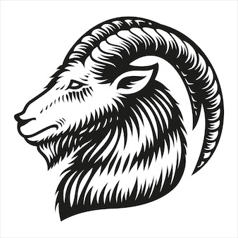 Segno zodiacale capricorno isolato su bianco