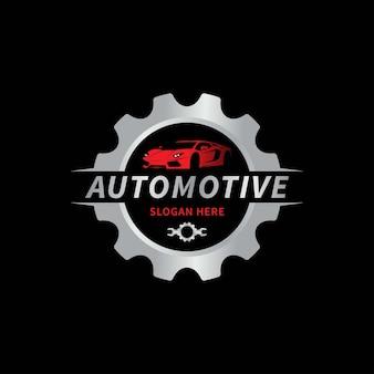 Illustrazione di vettore del modello di logo automobilistico dell'automobile