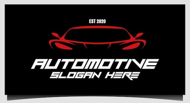 Vettore futuristico moderno di progettazione del logo automobilistico dell'automobile