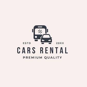 Logo di noleggio auto e autobus Vettore Premium