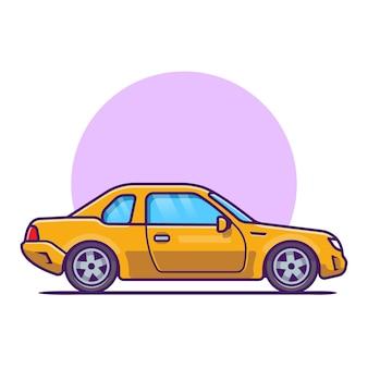 Cartoon auto. trasporto di veicoli isolato