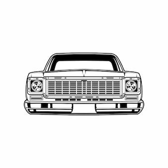 Vista frontale classica dell'auto