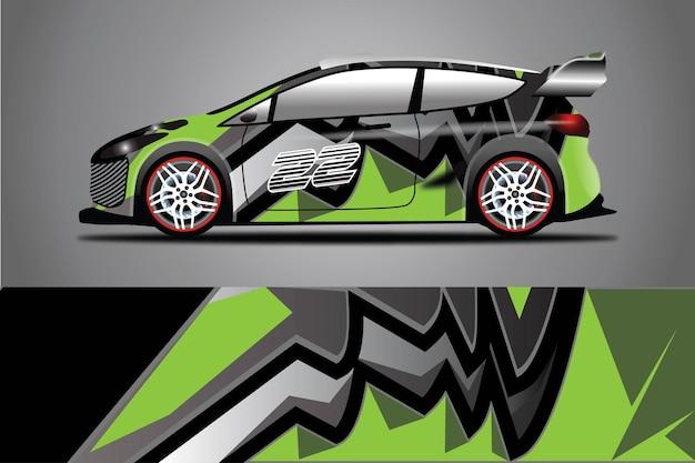 Illustrazione dell'involucro di vettore della decalcomania dell'auto