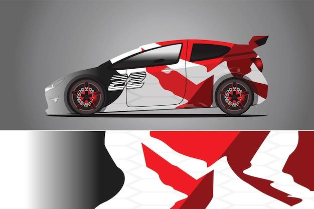 Vettore di disegno dell'involucro della decalcomania dell'auto