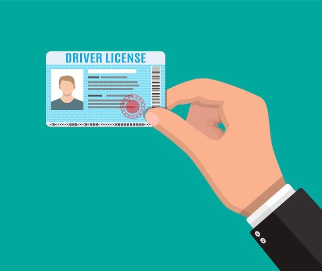 Carta d'identità della patente di guida con foto.