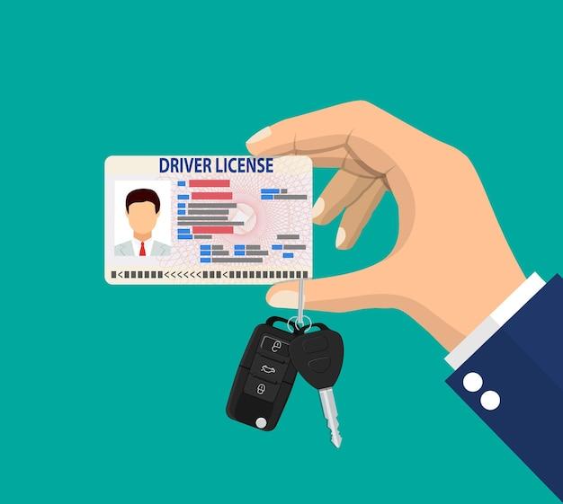 Carta d'identità della patente di guida dell'uomo