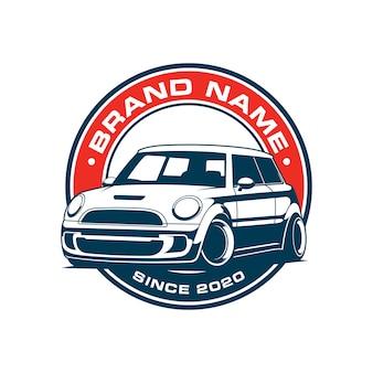 Design del logo emblema auto