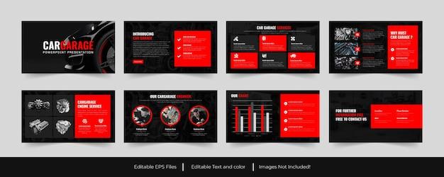Garage per auto o servizi per auto modello powerpoint design