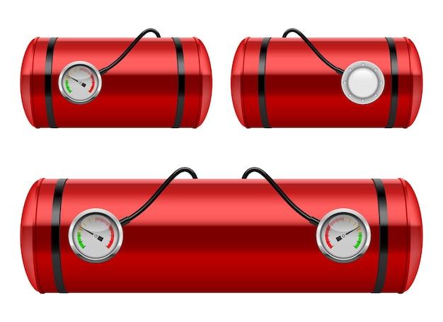 Illustrazione di progettazione di vettore del serbatoio di benzina dell'automobile isolata su fondo bianco