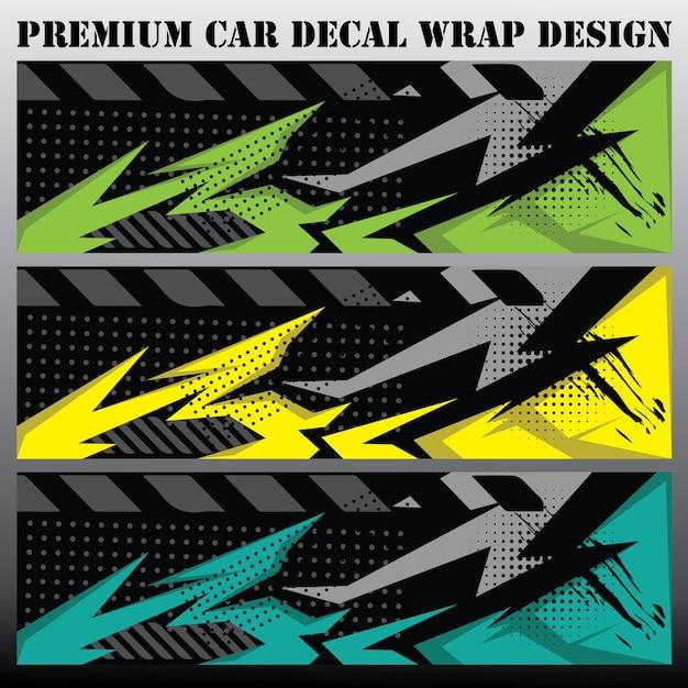 Concetto di design grafico per auto disegni grafici astratti a strisce grunge per il confezionamento