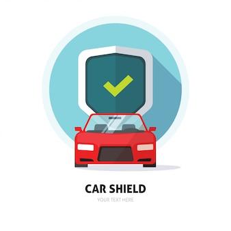 Car shield o protezione shield sign Vettore Premium