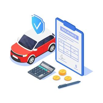 Concetto di assicurazione auto.