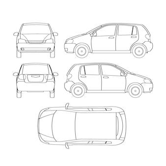 Assicurazione della berlina, danni da noleggio, modulo di rapporto sulle condizioni dell'auto