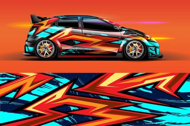 Design livrea auto con sfondo astratto sportivo