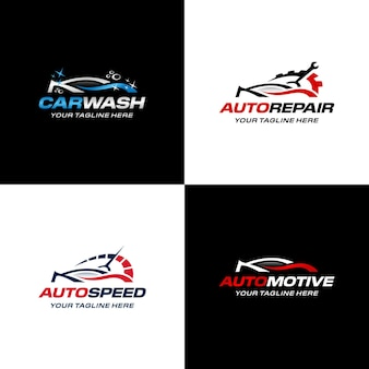 Modello premium per la raccolta del logo dell'auto