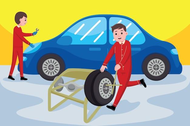 Professione di meccanico di automobili