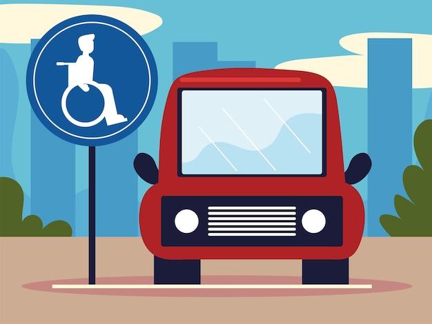 Parcheggio auto per disabili