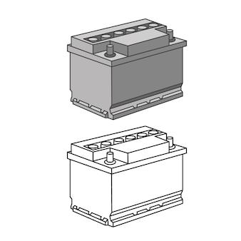 Vettore isometrico delle icone delle parti dell'auto