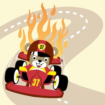 Cartone animato di corse automobilistiche