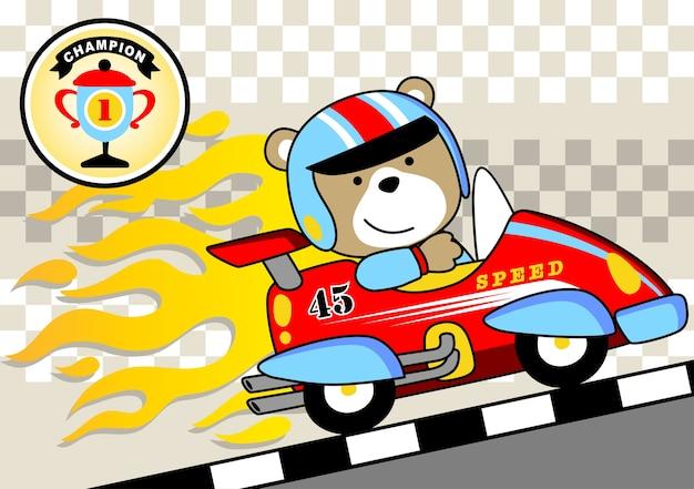 Vettore vincente vincitore di corse automobilistiche