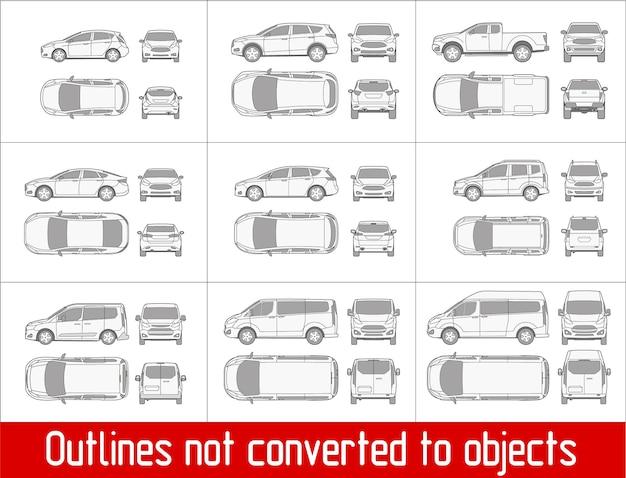 Auto berlina berlina suv pick-up veicolo controllo condizioni e modulo di ispezione
