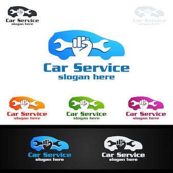 Car service vector logo design